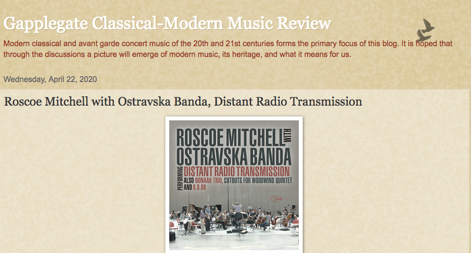 Photo of the Gapplegate Classical Modern Music Review of Roscoe Mitchell with Ostravska Banda