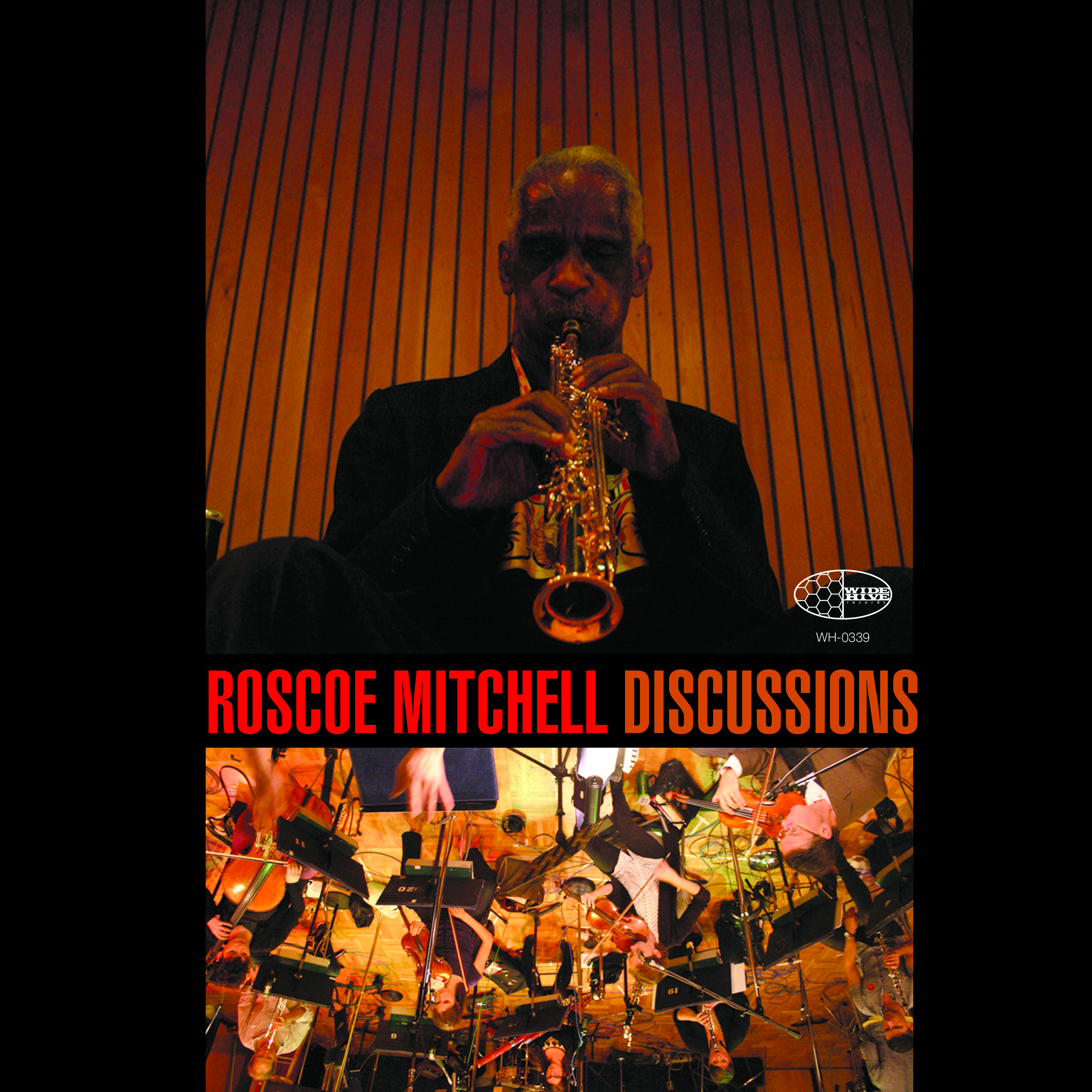A picture of the cover of Roscoe Mitchell Discussions.