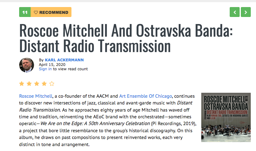 Picture of the All About Jazz Review of Roscoe Mitchell: Distant Radio Transmission