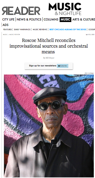 "A picture of the Chicago Reader review of Roscoe Mitchell's ""Distant Radio Transmission"""