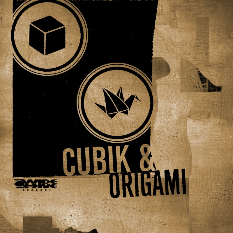 A photo of the cover of the Wide HIve release, Cubik and Origami EP I