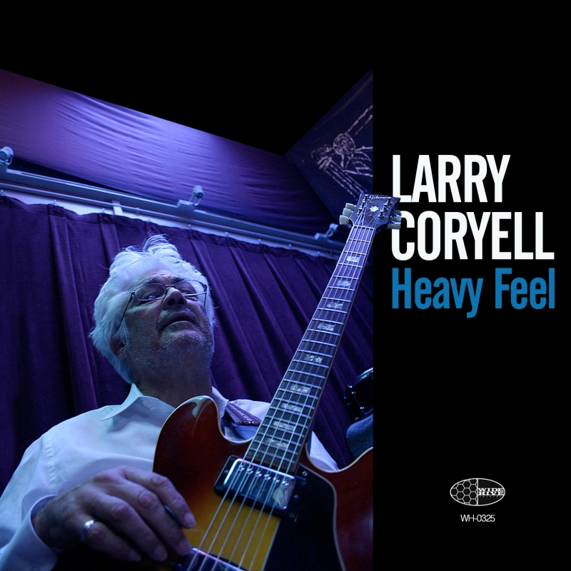 A photo of the cover of the Wide HIve release, Heavy Feel - by Larry Coryell.