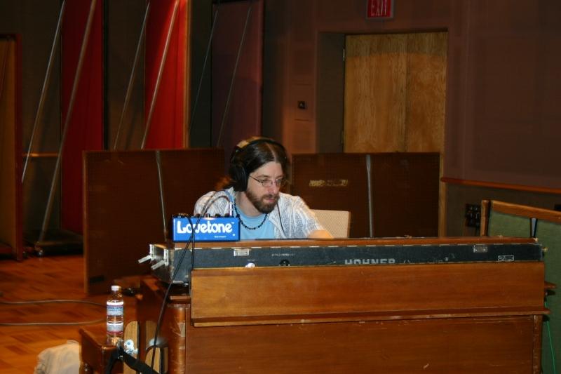 Matt Cunitz on a keyboard at the Wide Hive Studio.
