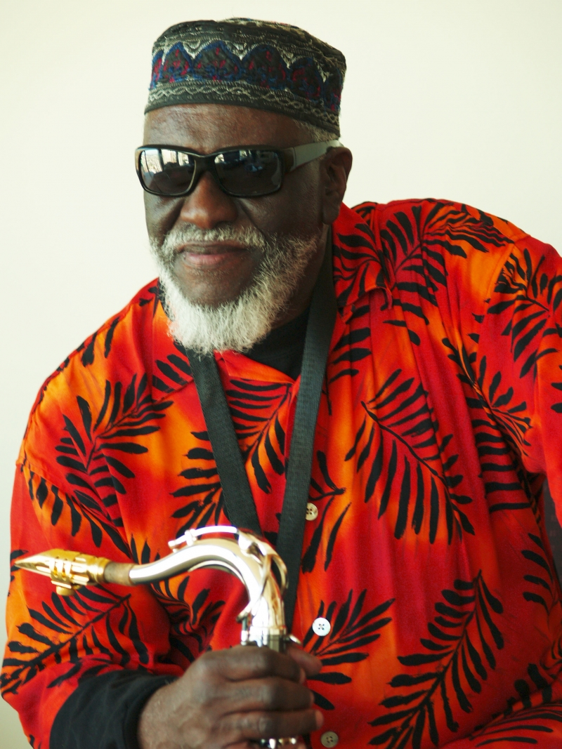 A photo of Pharoah Sanders.