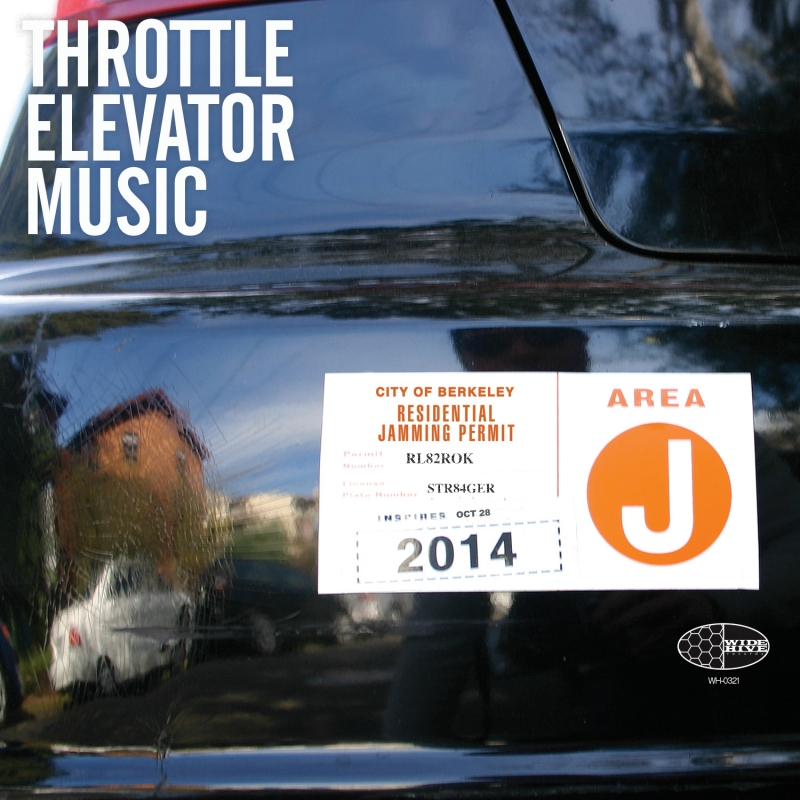 A photo of the cover of the Wide Hive release, Throttle Elevator Music - Area J