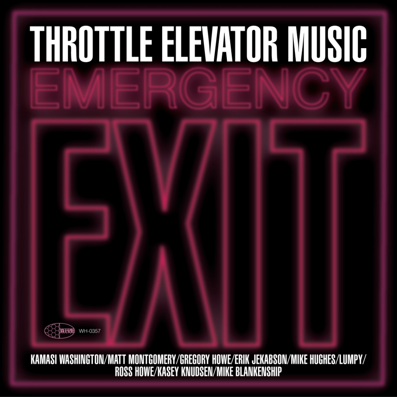 "A picture of the cover for Throttle Elevator Music's ""Emergency Exit."""