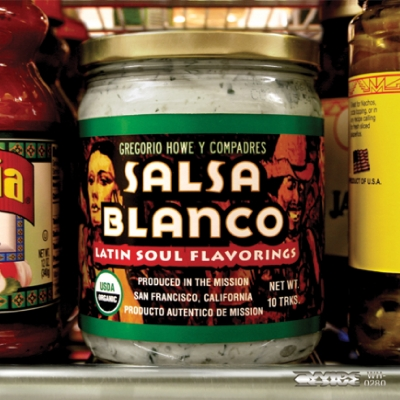 "A picture of the album cover for ""Salsa Blanco"" by Gregory Howe Gregorio Howe Y Compadres."