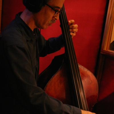 John Wiitale playing the stand up bass.