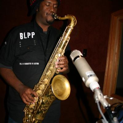 """Kamasi Washington playing the saxophone on """"Throttle Elevator Music."""""""