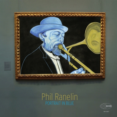 A photo of the cover of the Wide Hive release, Portrait in Blue, by Phil Ranelin.