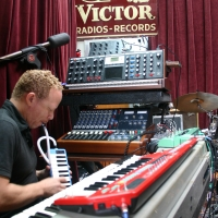 A photo of Craig Taborn in the Wide Hive Studio