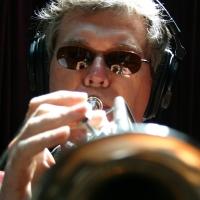 Tim Hyland playing the trumpet.